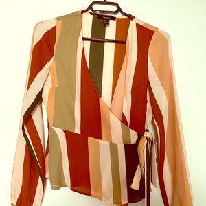 Forever21 - Wrap Blouse - Multi-colour stripe